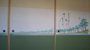 吉田桂二さんの襖絵