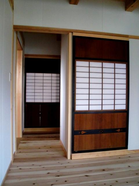 桑名多度・古い木製建具再生
