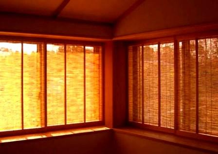 夏に活用できる木製建具(簾障子)