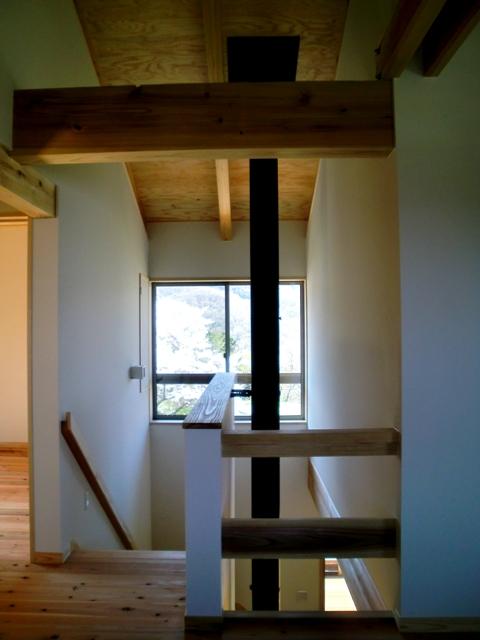 階段ホールと吹抜