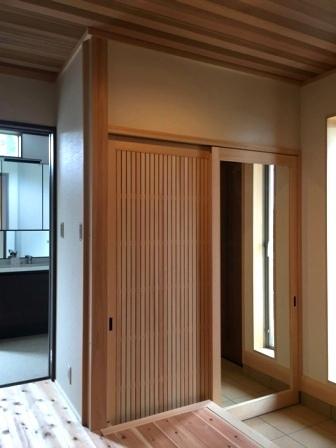 エントランス収納+姿見木製戸