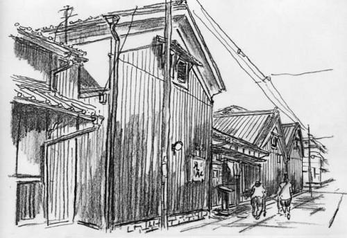 京都伏見のまちかどスケッチ